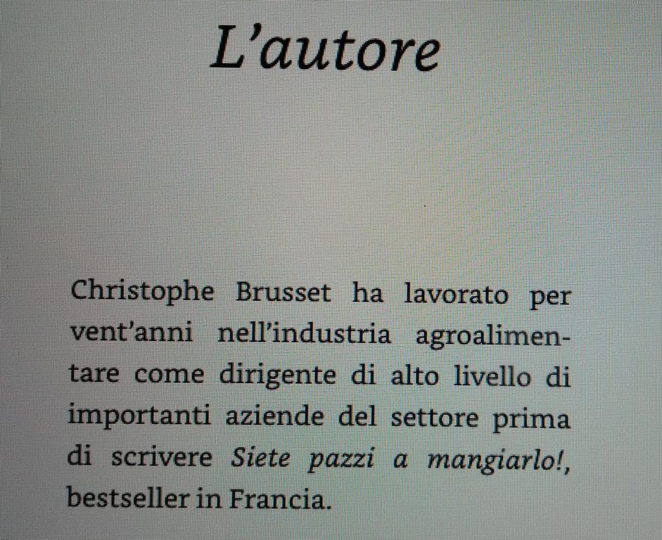 Christophe Brusset miele falso